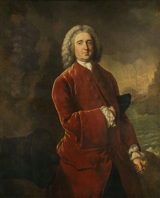 Адмирал Эдвард Вернон, «Старый Грог» на портрете кисти Томаса Гейнсборо. 1753.Национальная портретная галерея. Лондон.